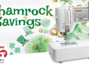 March Janome Shamrock Savings